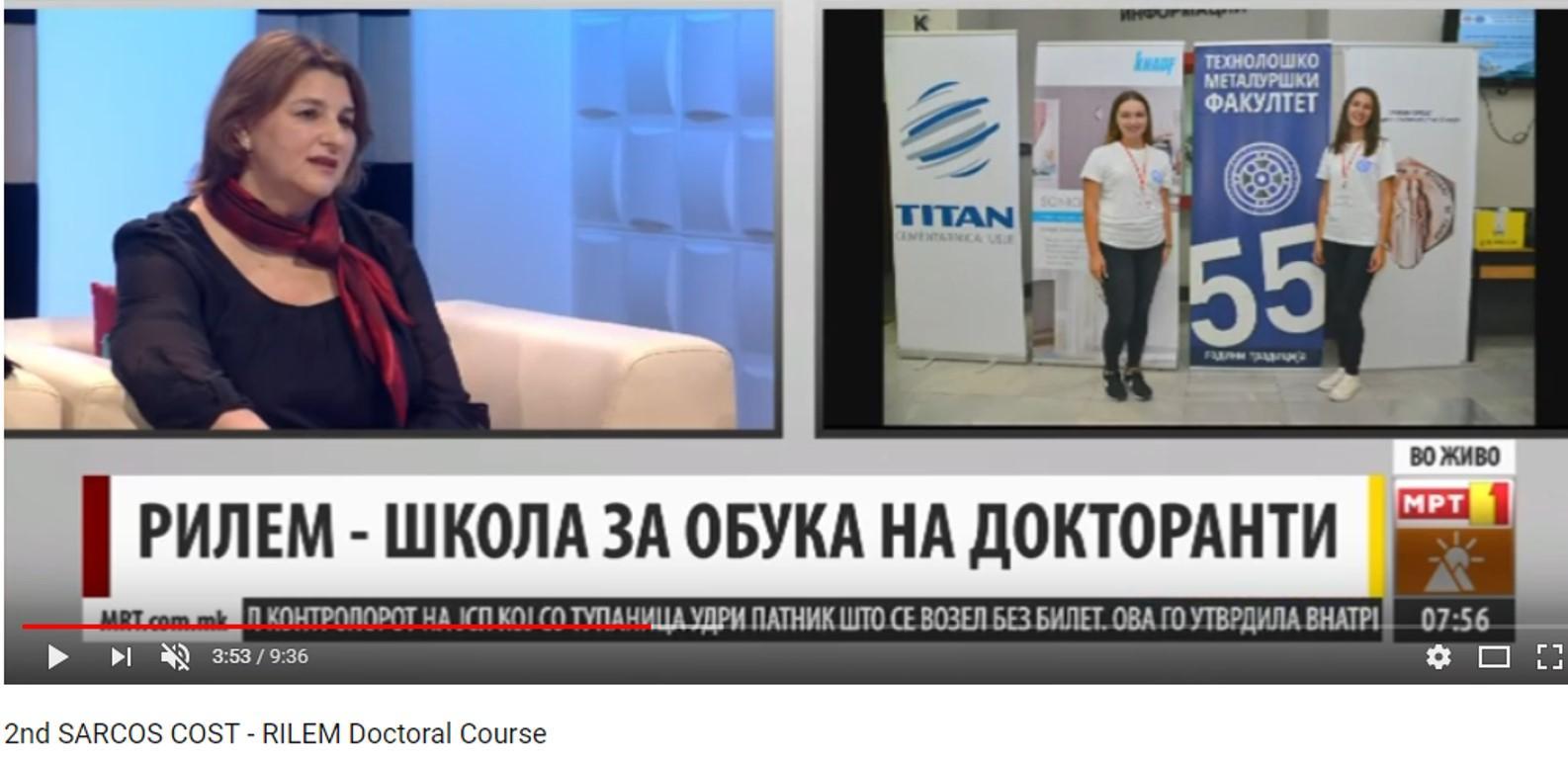 2nd SARCOS Training School // Macedonian TV